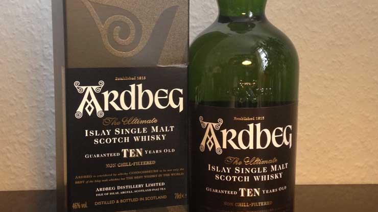 Ardbeg Single Malt ten years